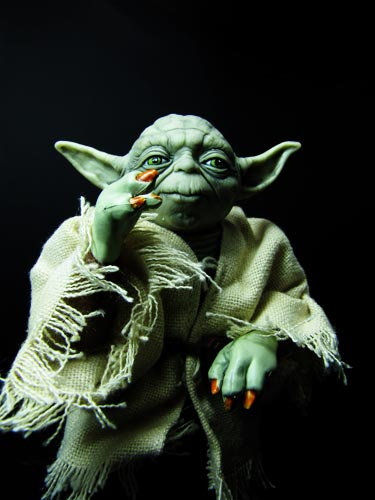 large Yoda figure