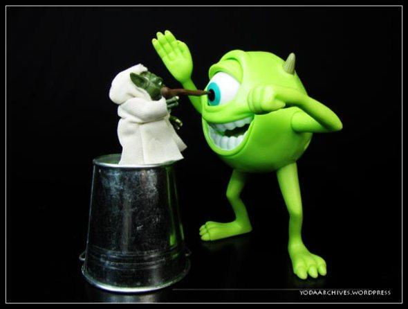 Yoda meets Mike Wazowski
