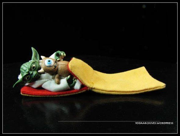 Yoda sleeping
