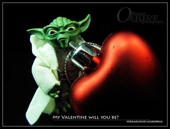Yoda wishes you a happy Valentines day.