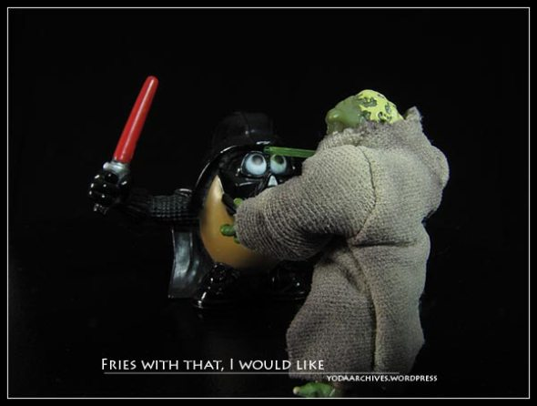 Yoda vs Darth Tater
