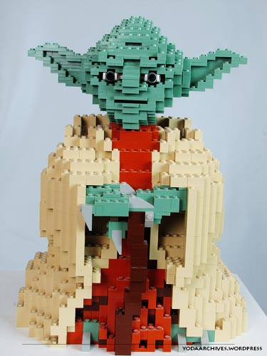 Brick built Yoda.