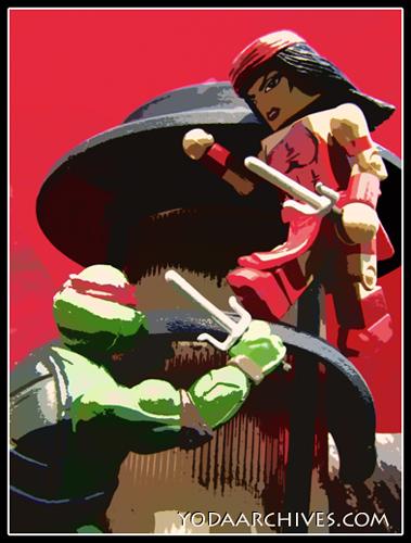 Elektra battles Raphael