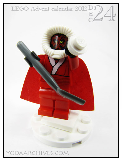 Darth Maul as santa
