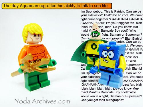 Aquaman lego minifig
