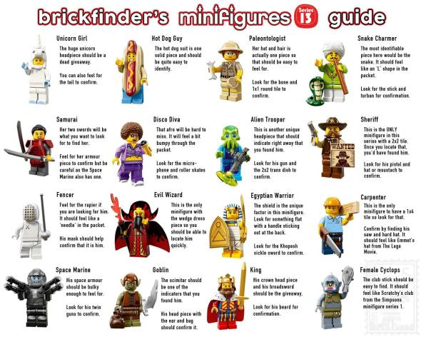 lego series 13 minifig feel guide