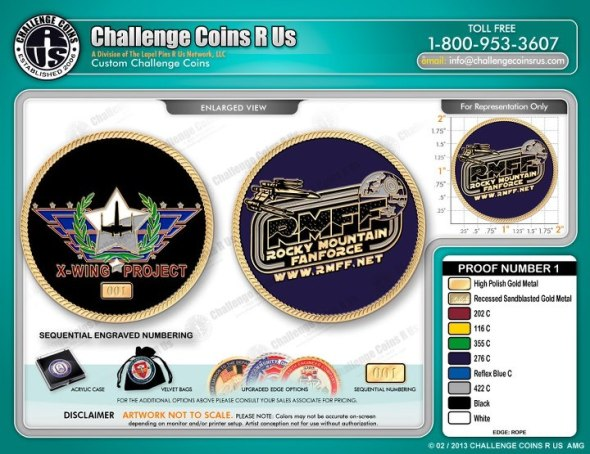 X-wing Project challenge coin.