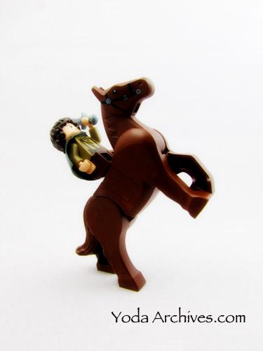 LEGO Frodo on horse back