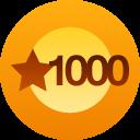 1000 likes award