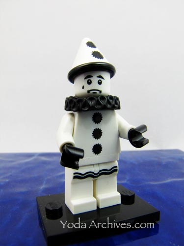 Sad clown lego minifigure from series 10.