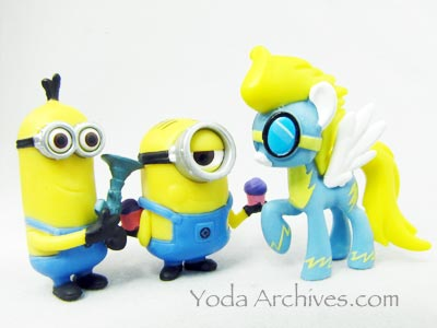 Minions meet my little pony