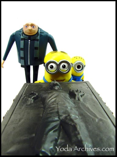 han solo in carbonite gru and despicable me minoins