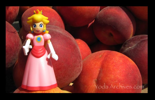 princess peach at the farmers market