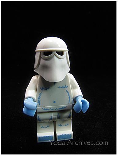 lego yeti wearing snow trooper helmet