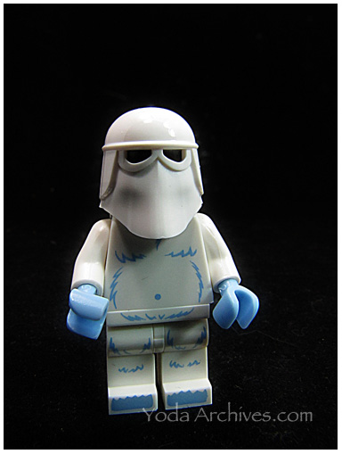 lego yeti wearing snow trooper helmet