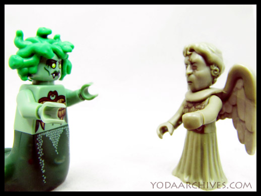lego medusa face weeping angel.