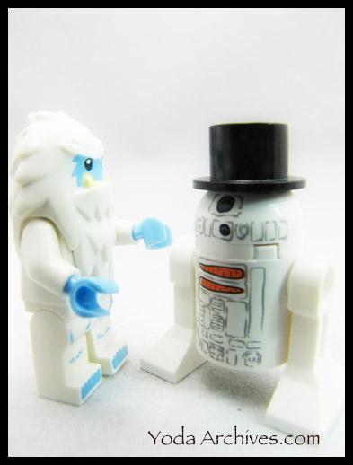 lego yeti and snow driod r2d2