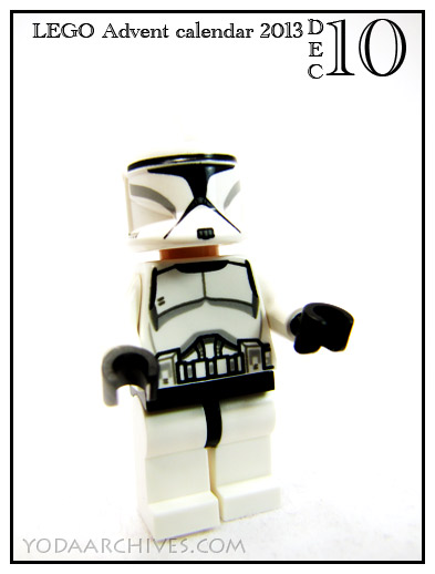 lego clone trooper from star wars 2013 advent calendar