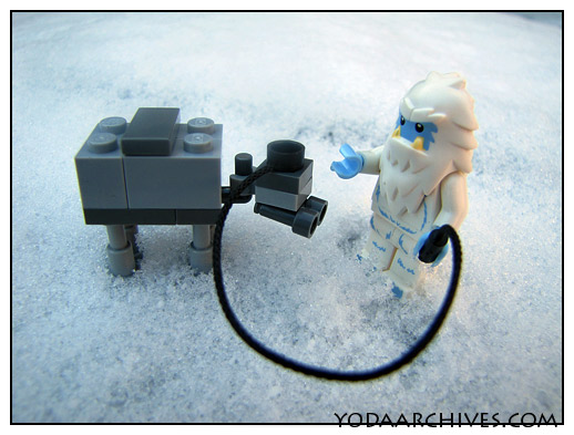 Yeti minifig and at-at mini walker comic