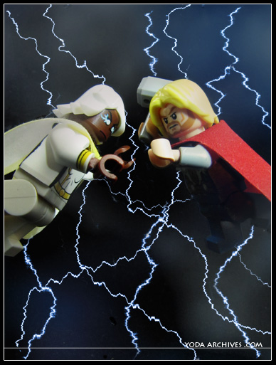 lego thor lego storm minifigs fight