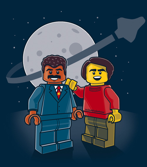 LEGO Neil deGrasse Tyson  and Carl Sagan
