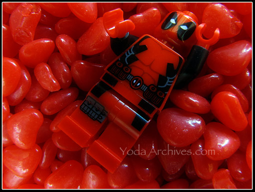 LEGO Deadpool in red hots