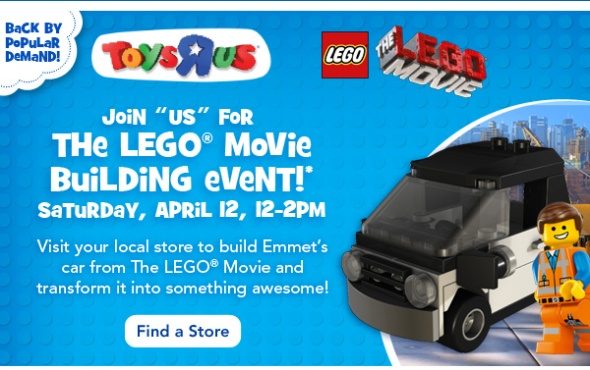 the lego movie build event at toys r us