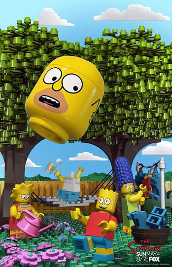 LEGO SIMPSONS poster