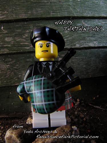 LEGO Bagpiper celebrates Tartan day