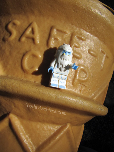 lego Yeti and giant ice cream cone.