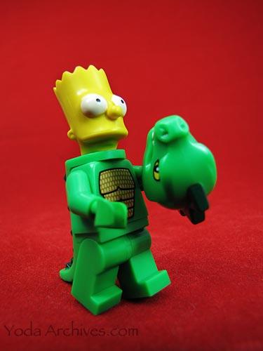 LEGO bart simpson dressed as Godzilla