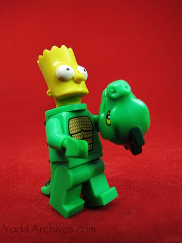 LEGO bart simpson dressed as Godzilla