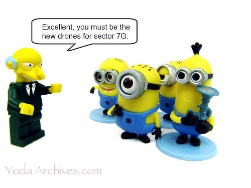 MR Burns meets the minions