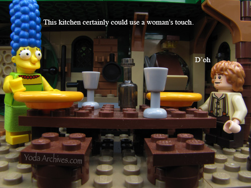 Marge adds a woman touch to bagend