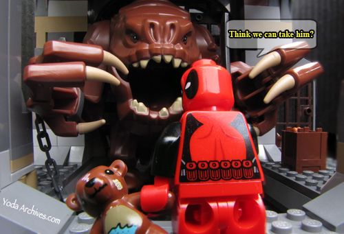 Deadpool and bobo in the rancors pit