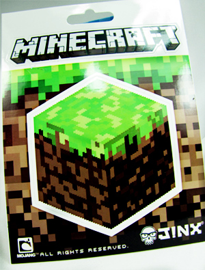 nerd block unboxing minecraft sticker