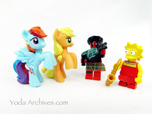 my little pony dance party with lisa simpson and deadpool