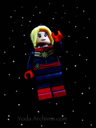 LEGO Captain Marvel flying