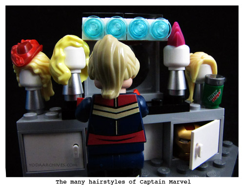 lego captain marvel at her vanity