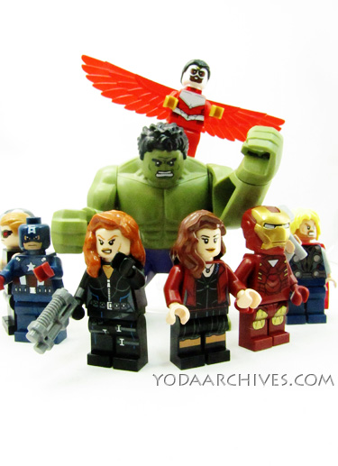 LEGO Marvel Avengers minifig in semi circle