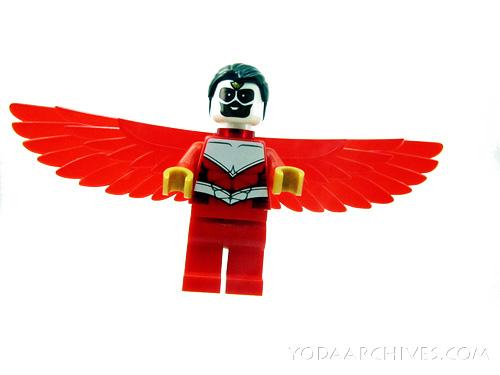 LEGO Falcon minifig flying