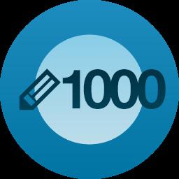 1000 post milestone