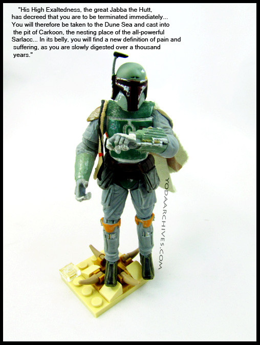 how did fett escape the Sarlacc?