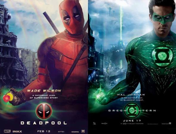 Deadpool poster parody of green latern poster