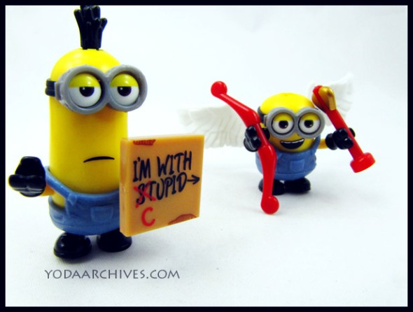 minion mega bloks valentines sets i'm with cupid
