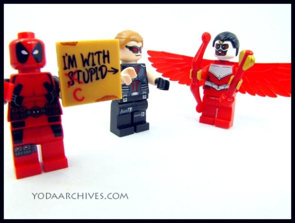 LEGO Deadpool hawkeye and falcon.