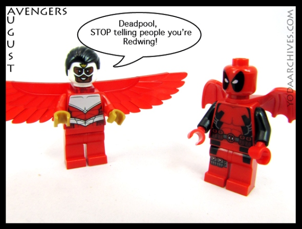 falcon scolds deapool for wearing wings and claiming to be his sidekick redwing