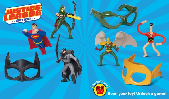 DC happy Meal toys