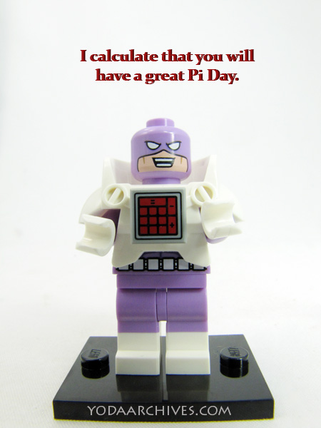 calculator from lego batman movies wishes you a happy piday