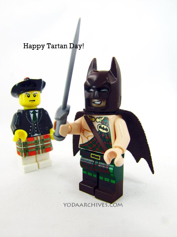 Batman wearing a kilt